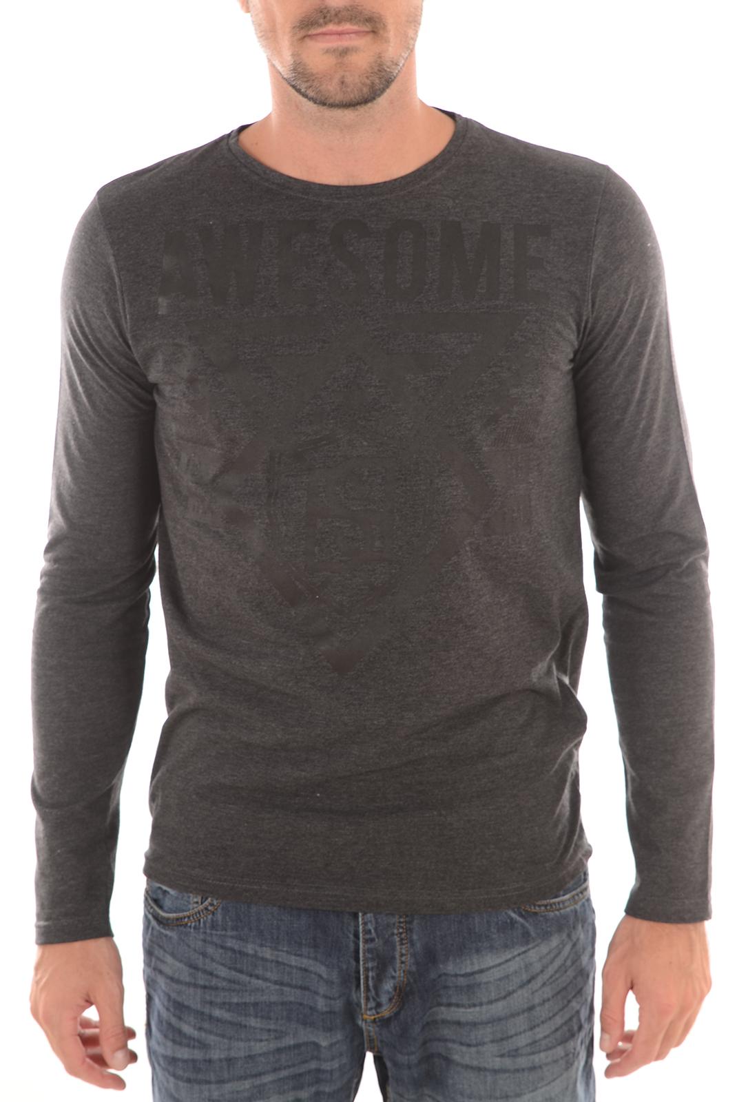Tee-shirts  Biaggio jeans LIZELA GRIS FONCE