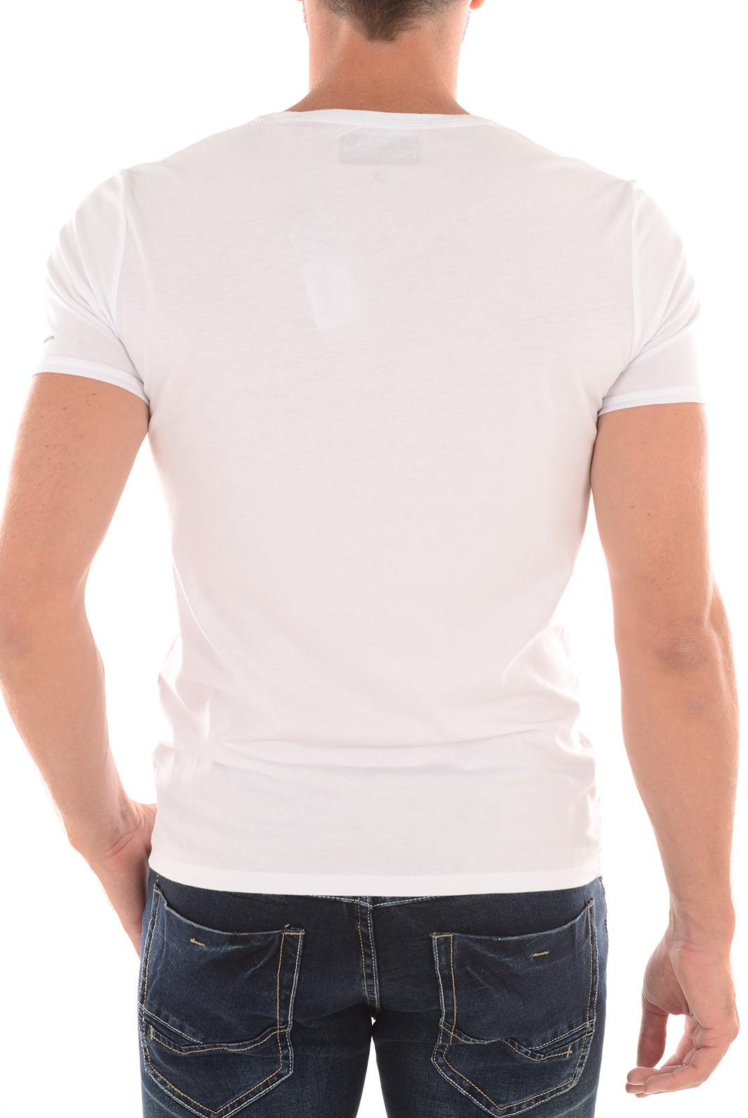 Tee-shirts  Guess jeans M63I67I3Z00 A009 BLANC
