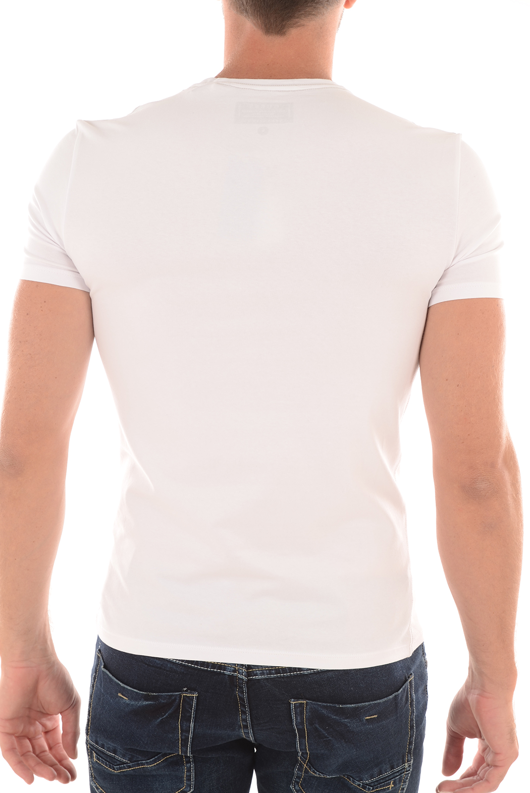 Tee-shirts  Guess jeans M63I62J1300 A009 BLANC