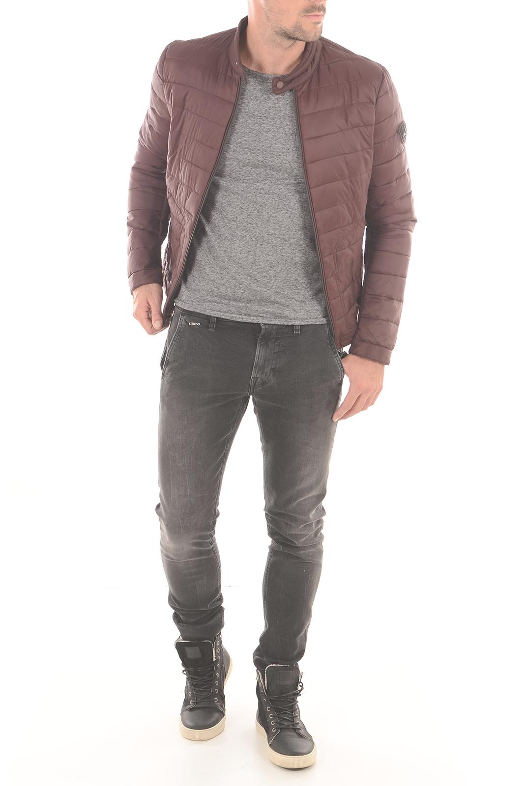 Tee-shirts  Guess jeans M63P47K4SJ0 H098 GRIS