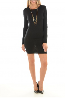 NEW HAYLEY L/S ZIP DRESS - FEMME ONLY