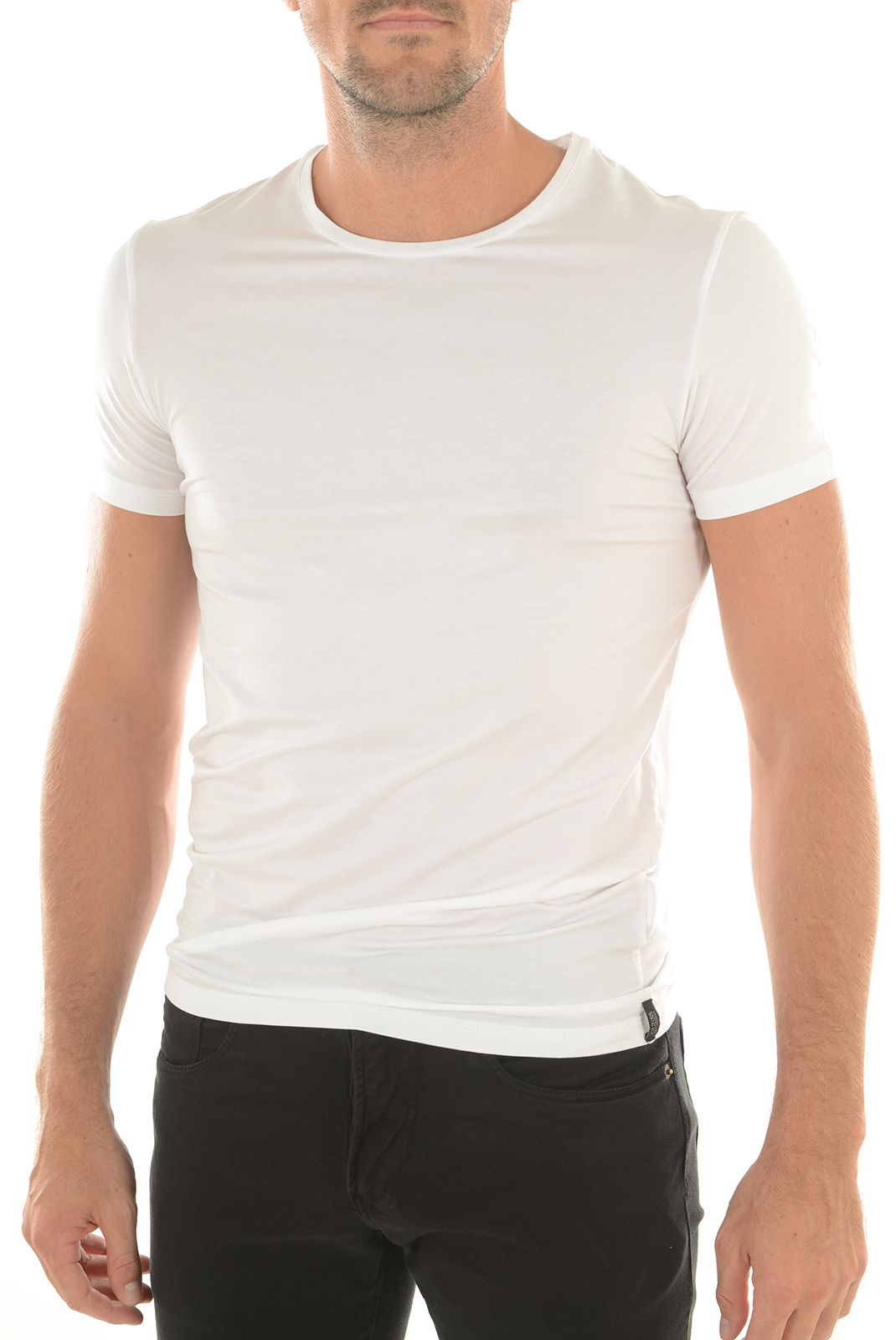 Tee-shirts  Guess jeans U64M22LYO11 A009 BLANC