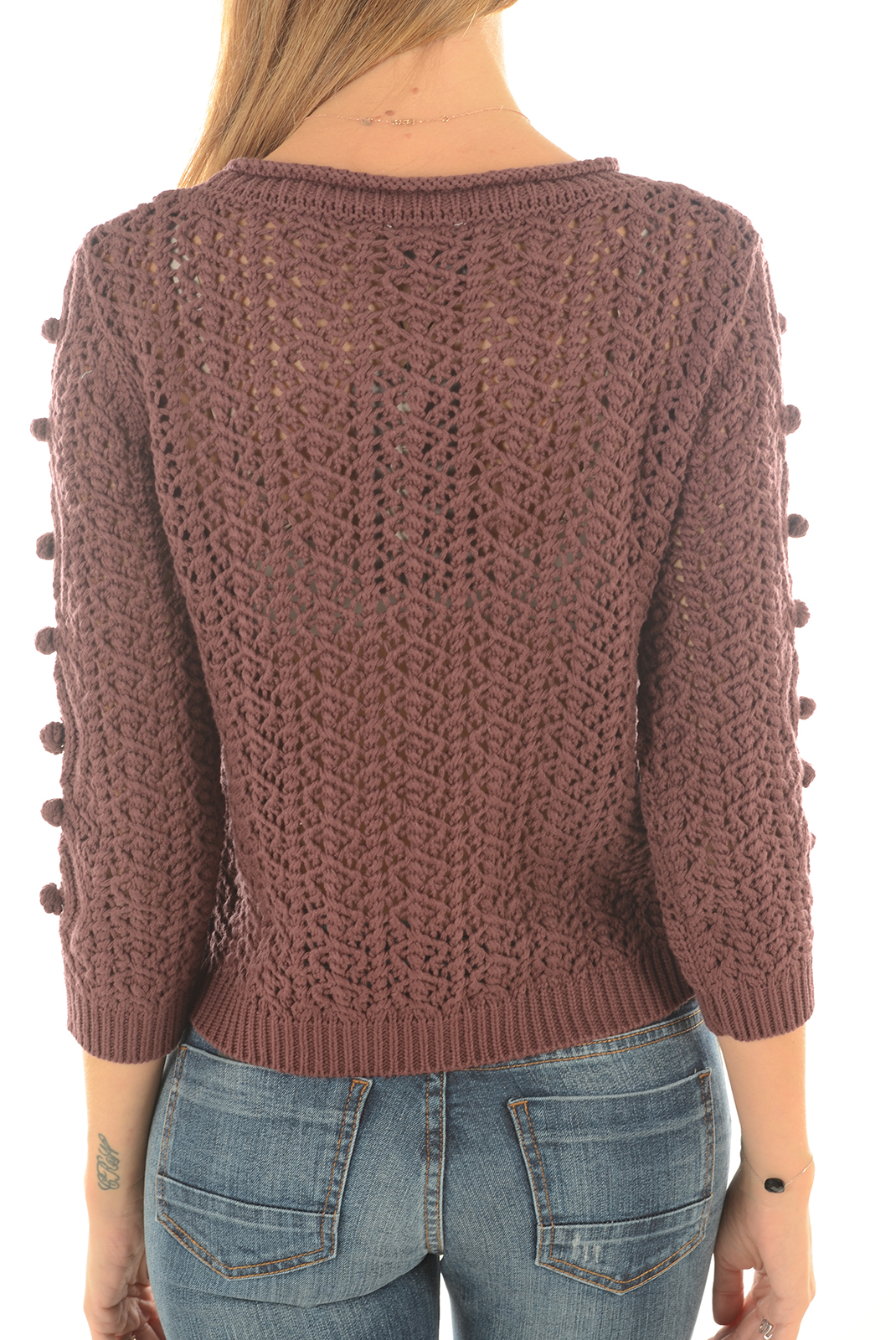 Pulls & gilets  Vero moda ORCHIDA 3/4 SHORT DECADENT CHOCOLATE