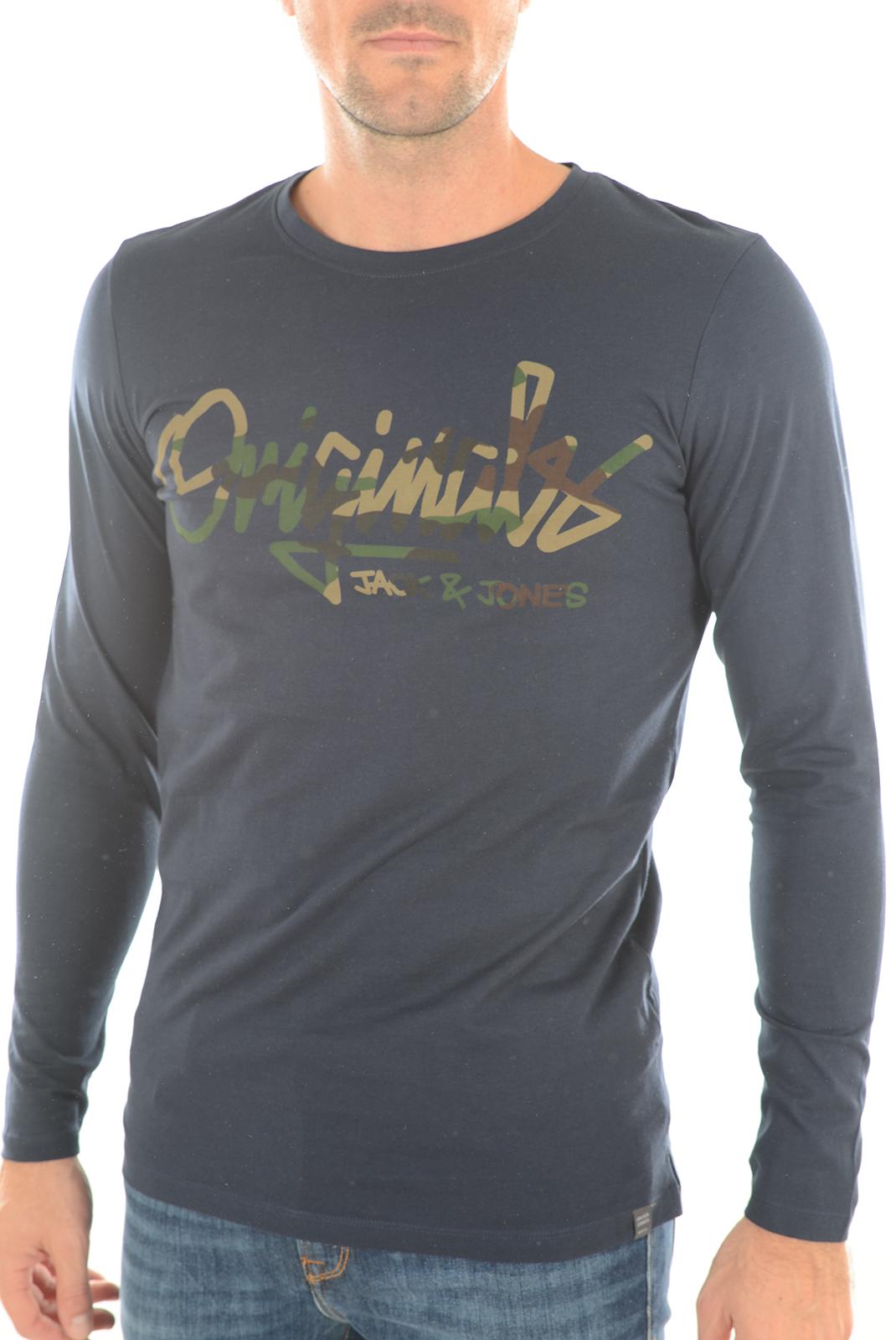 Tee-shirts  Jack & Jones RALOIS TEE NAVY BLAZER