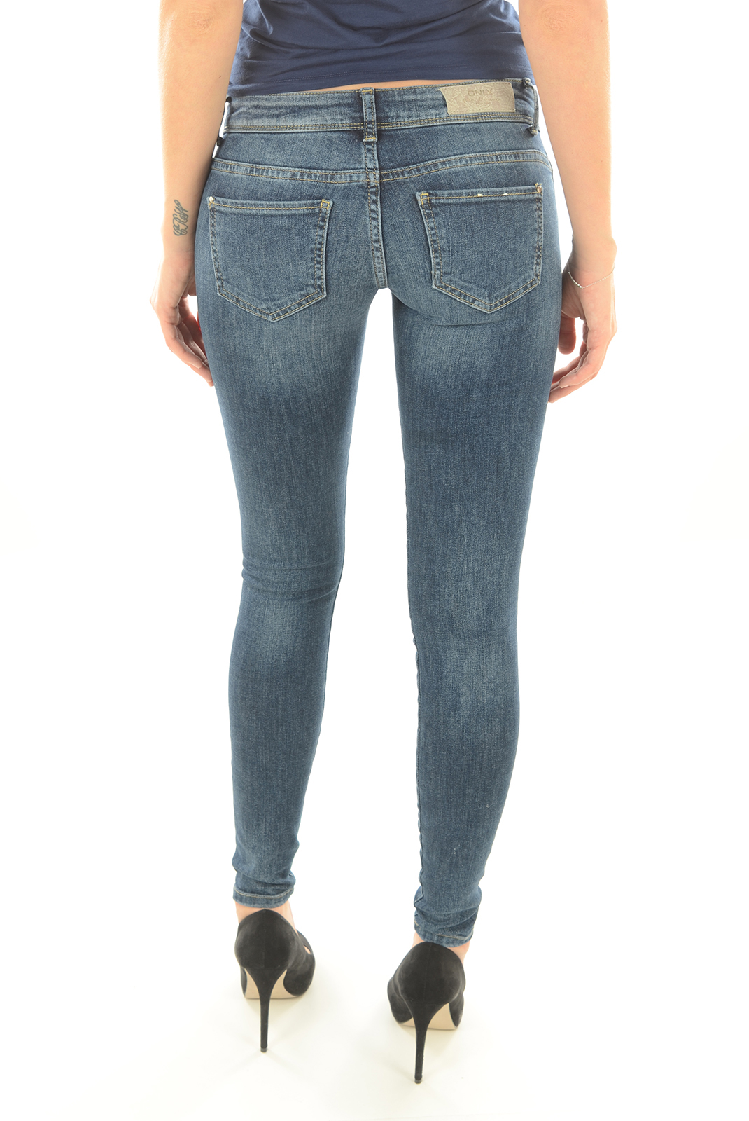 Jeans   Only CORAL SUPERLOW SKINNY MEDIUM BLUE
