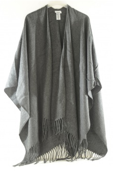 FEMME ONLY: AYA WEAVED SOLID PONCHO