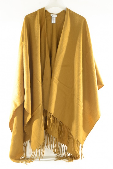 MARQUES ONLY: AYA WEAVED SOLID PONCHO