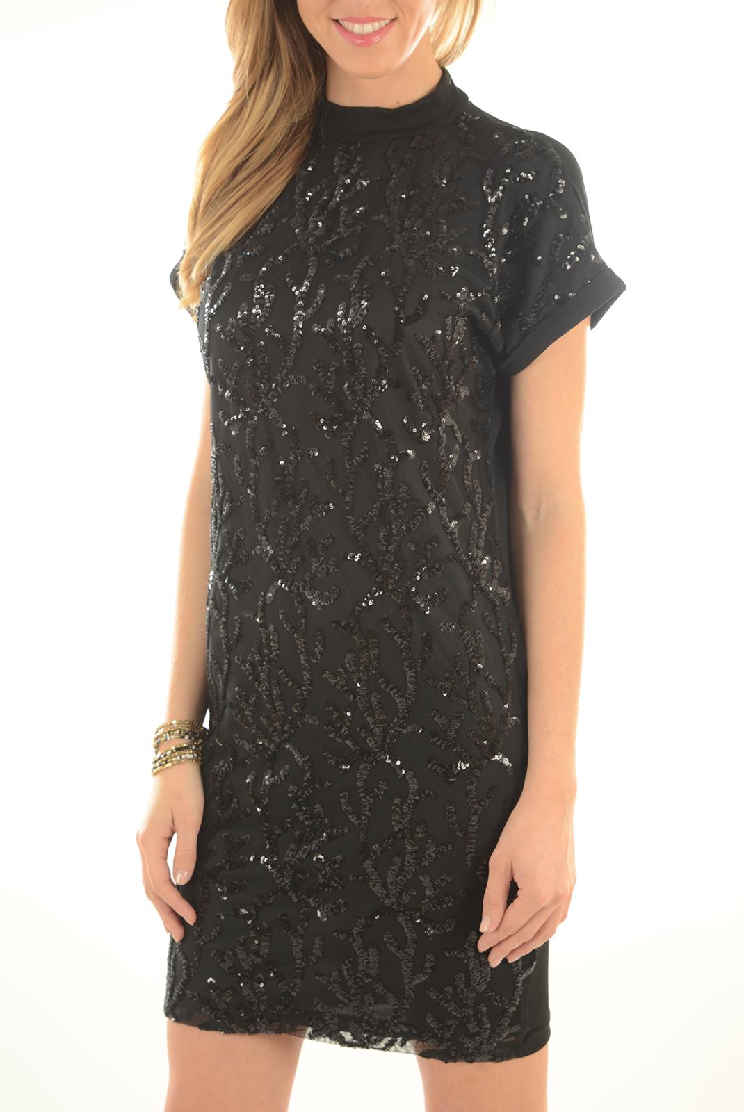 FEMME  Only JUNO S/S SHORT DRESS BLACK
