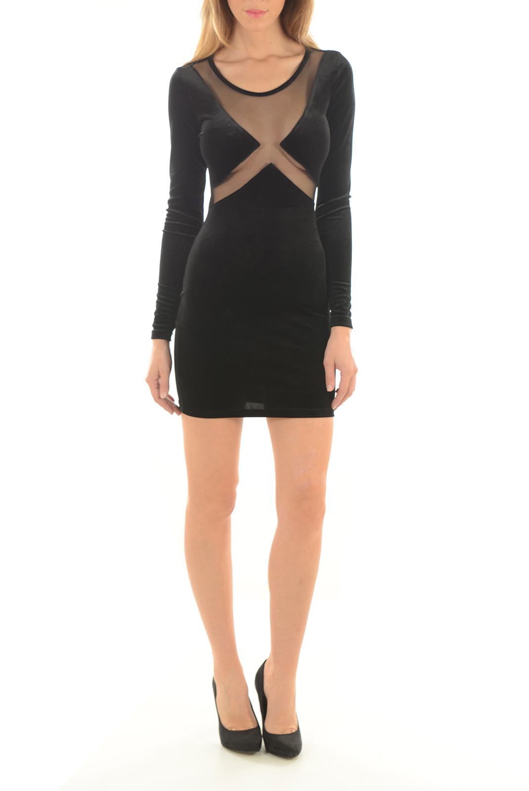 FEMME  Noisy May BRAVE L/S DRESS BLACK