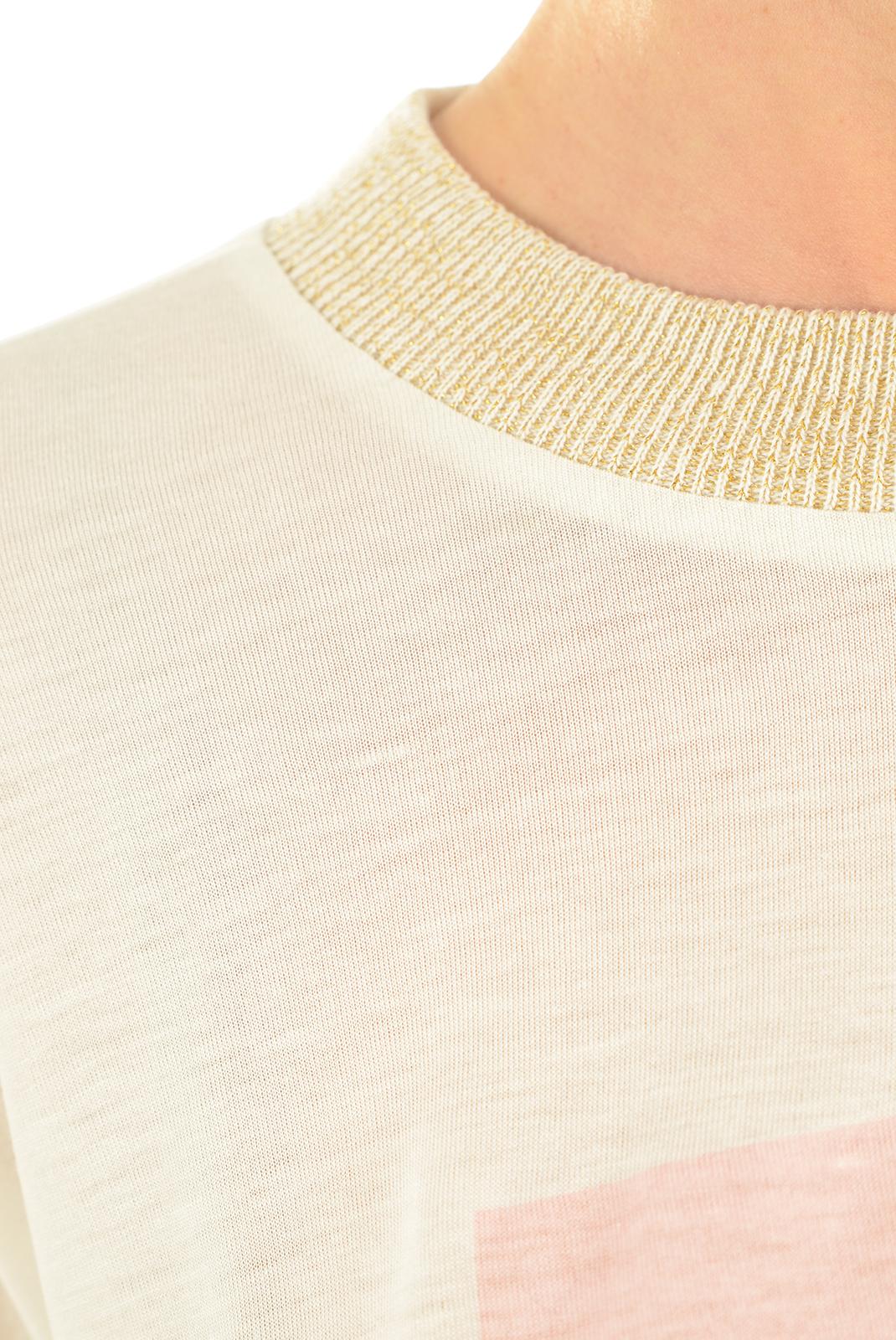 Tee shirt  Vero moda CLARA S/S TOP SNOW WHITE