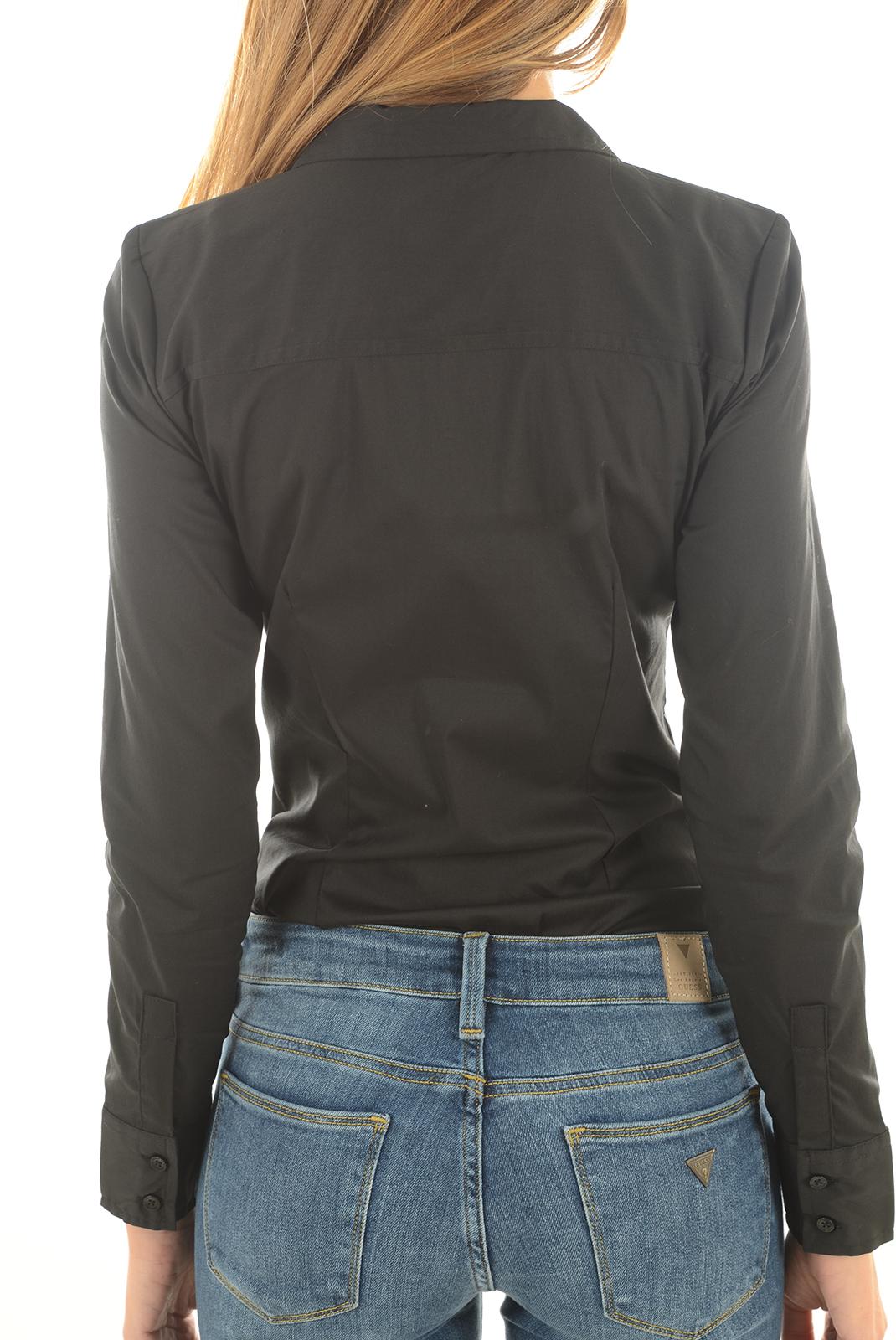 Chemisiers  Vero moda LADY L/S G STRING SHIRT NOOS BLACK