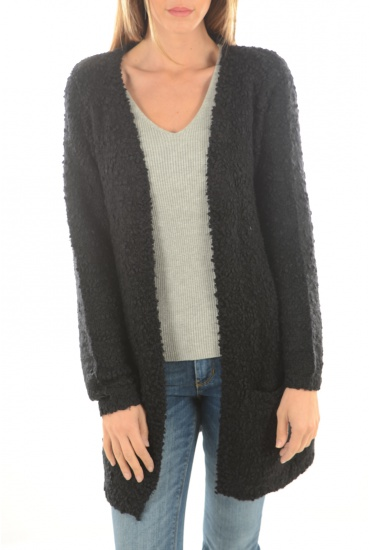 FEMME ONLY: POP FEATHER L/S CARDIGAN