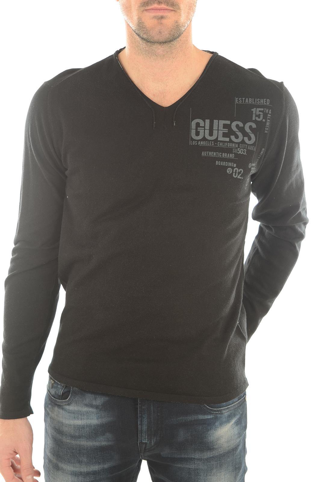 Pulls & Gilets  Guess jeans M62R08Z18Z0 A996 NOIR