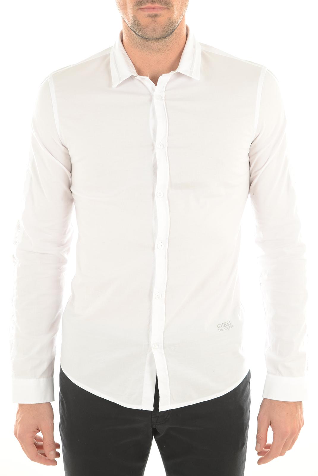 Chemises   Guess jeans M63H15W7D20 A009 BLANC