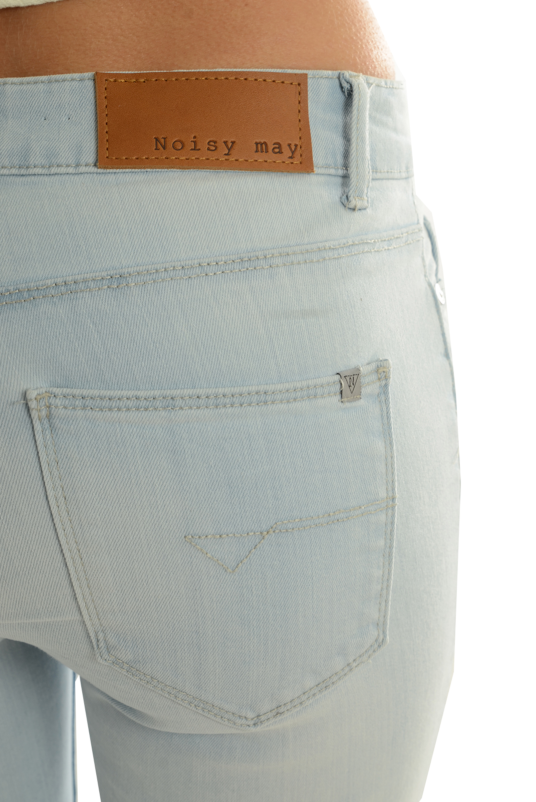 Jeans   Noisy May LUCY NM S.S DEST LIGHT DENIM BLUE