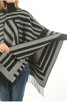 ONLY: OHARA WEAVED PONCHO