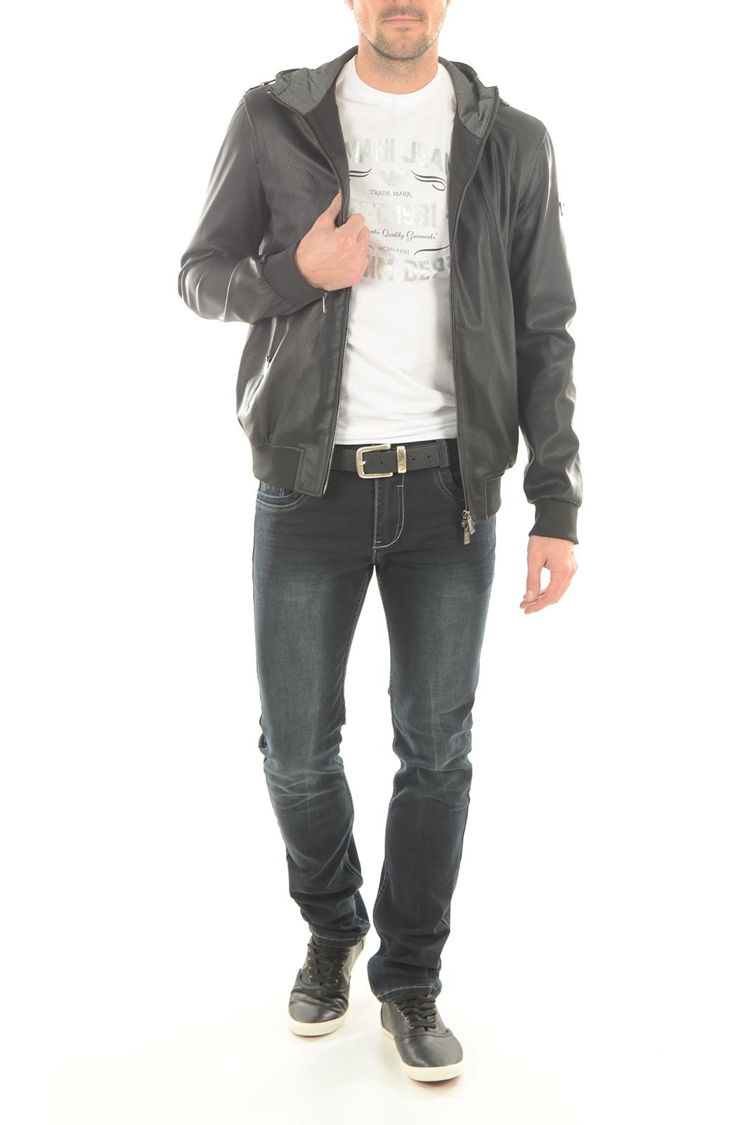 T-S manches courtes  Armani jeans C6H73 FF BLANC 10