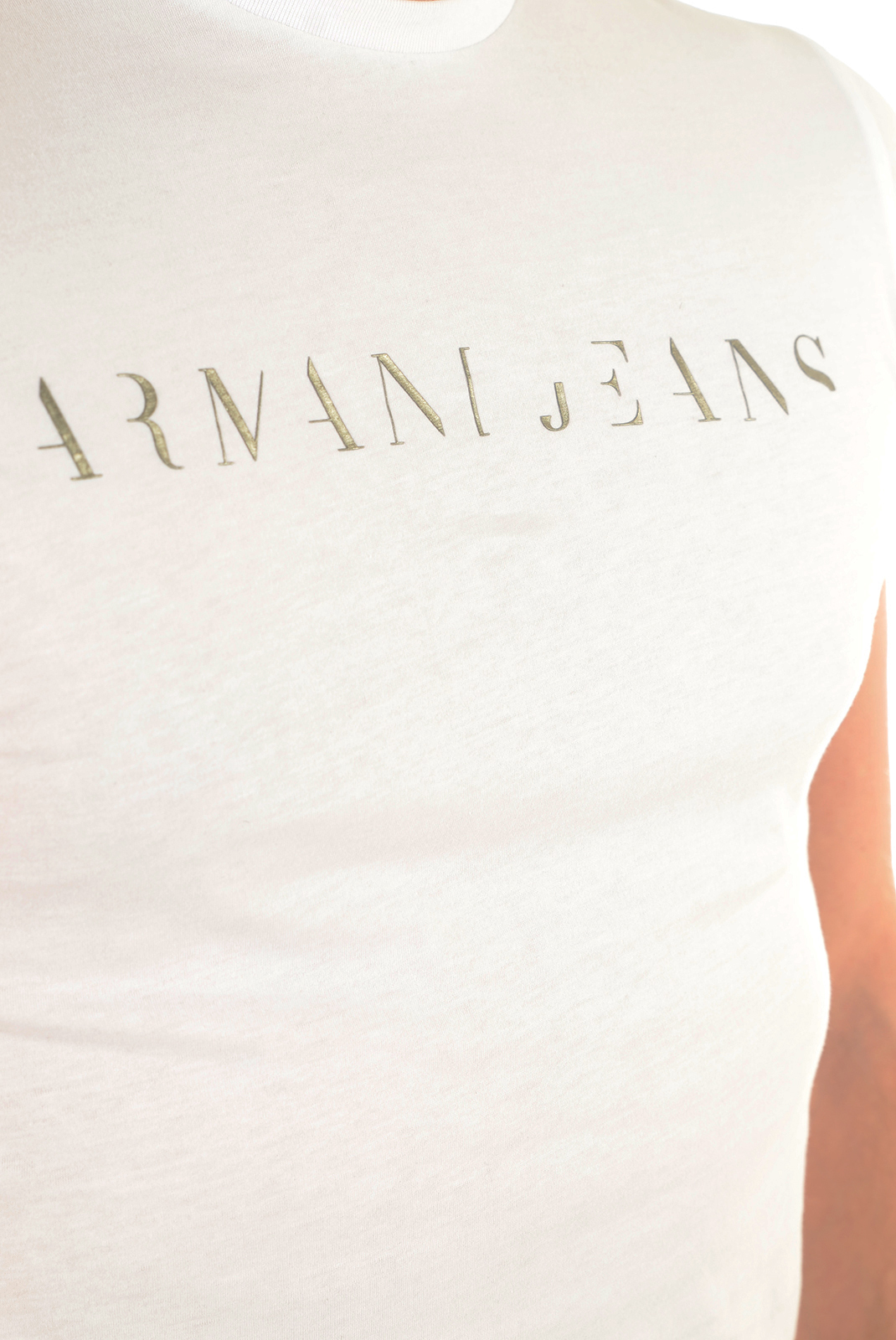 Tee-shirts manches courtes  Armani jeans C6H12 FF BLANC 10