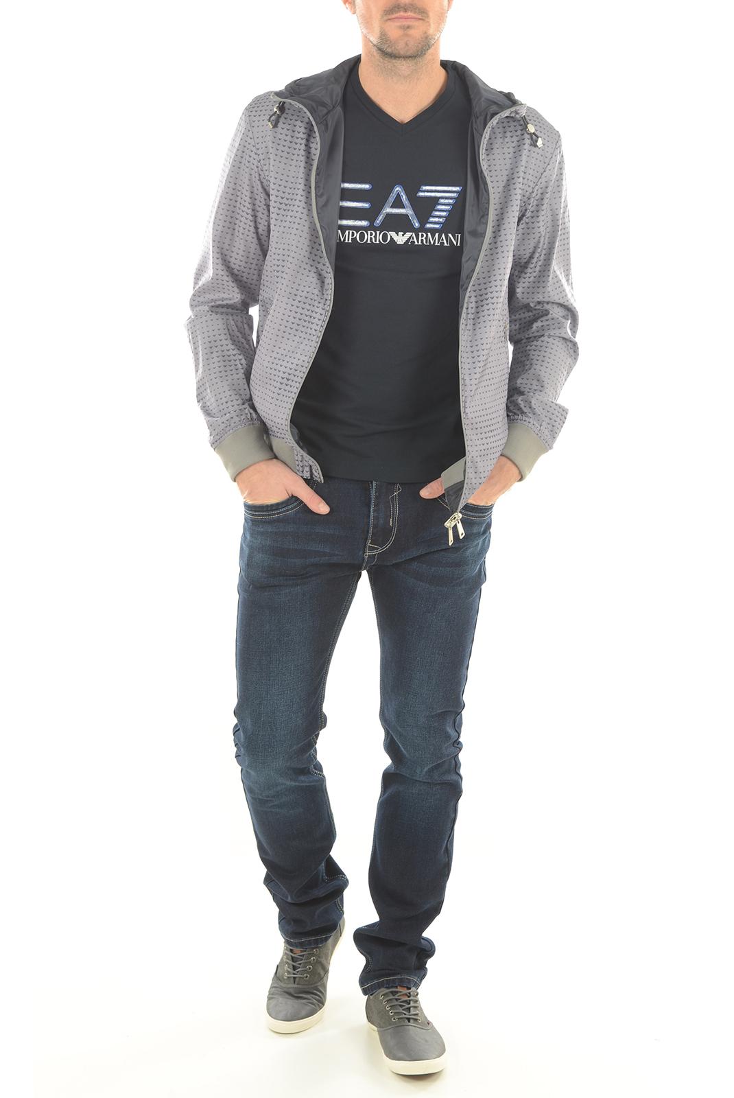 HOMME  Armani jeans C6B77 UJ KE gris imprimé, bleu uni