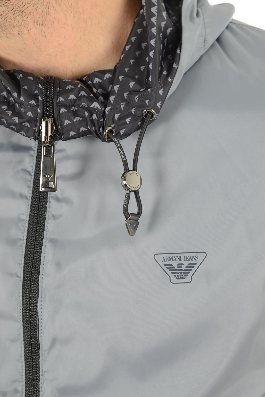 Homme  Armani jeans C6B77 UJ KH noir imprimé, gris uni