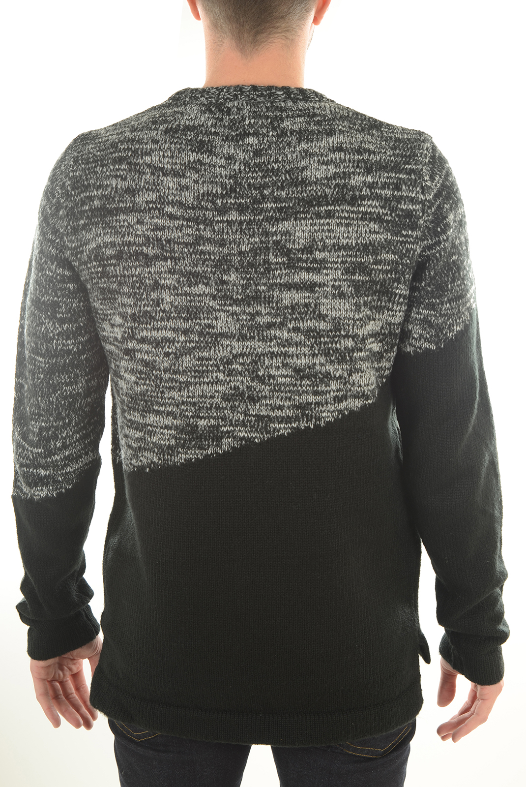 Pulls  Jack & Jones ASYMMETRIC KNIT CREW BLACK