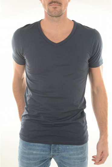 BASIC V-NECK S/S - Soldes JACK AND JONES