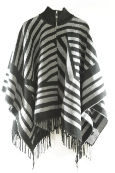 OHARA WEAVED PONCHO - ONLY