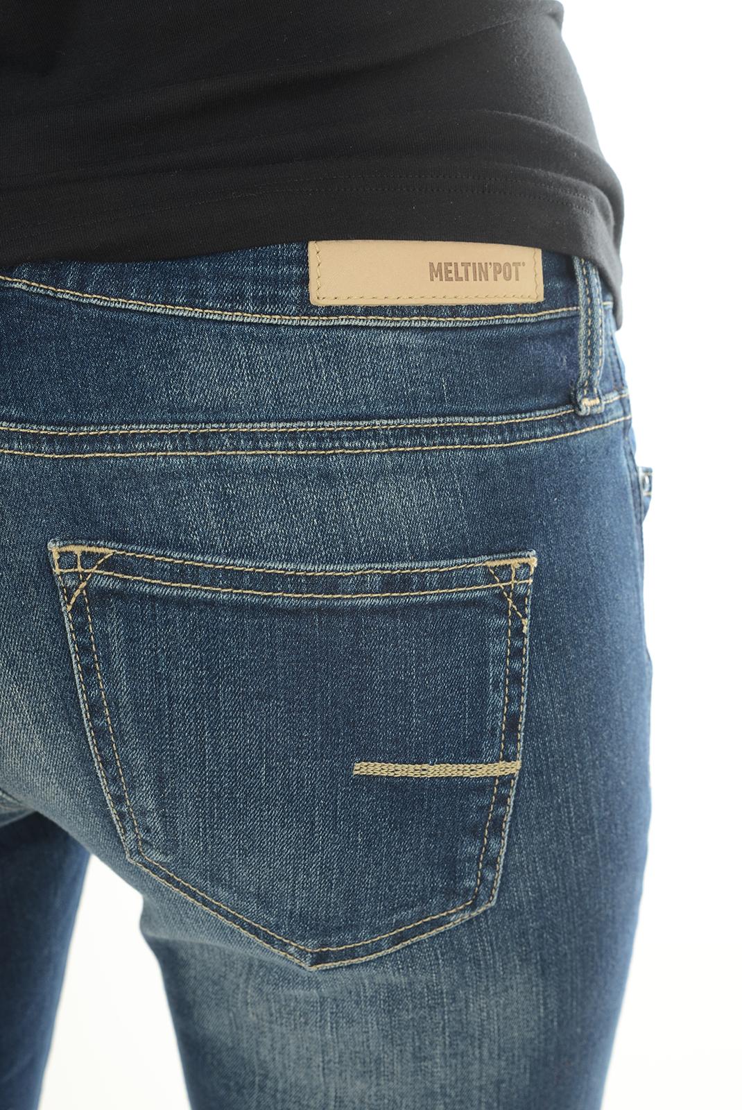 Jeans   Meltin'pot RAJA/W D1586 USK10 BLEU