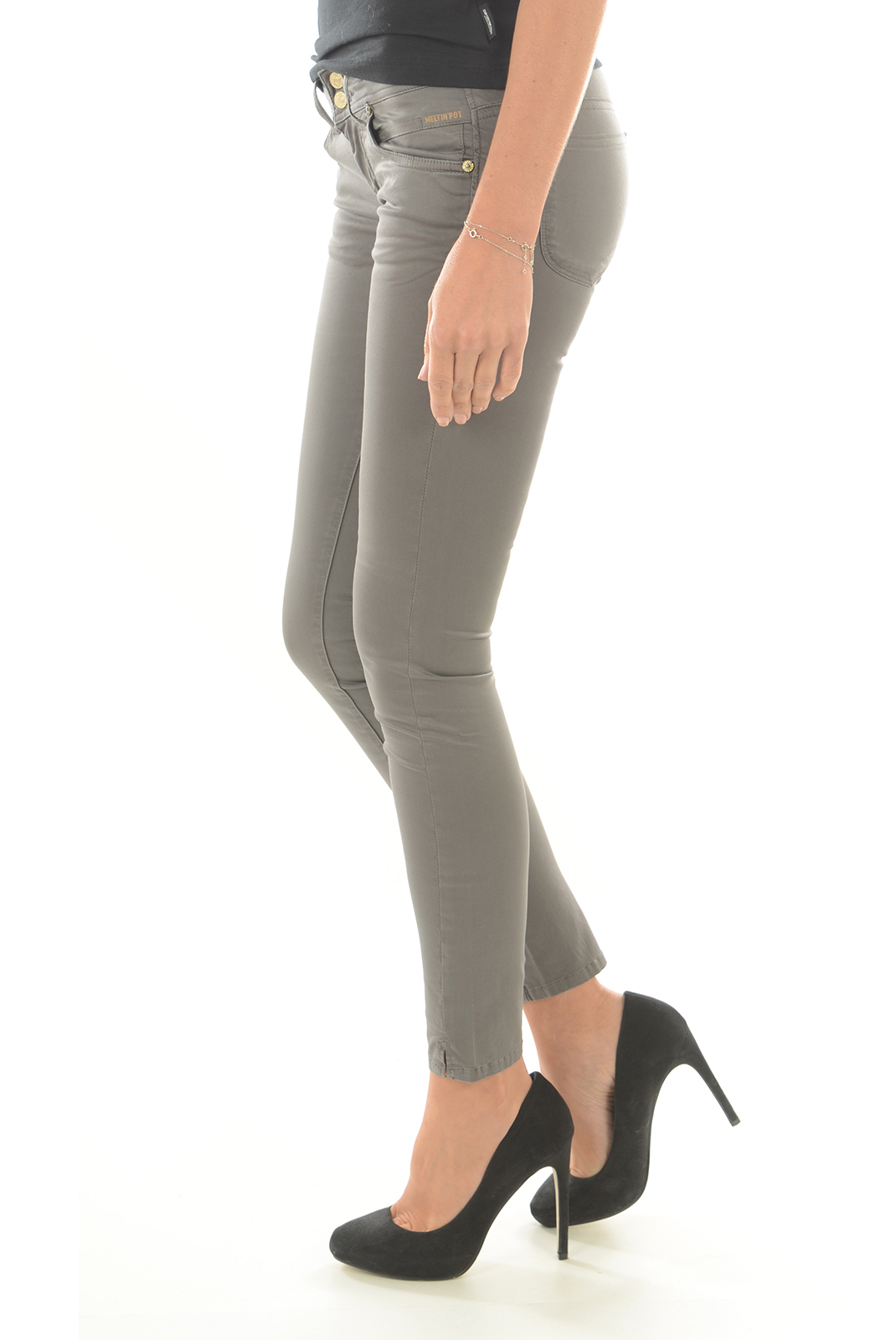 Pantalons  Meltin'pot MARYON S1600 GN51 GRIS