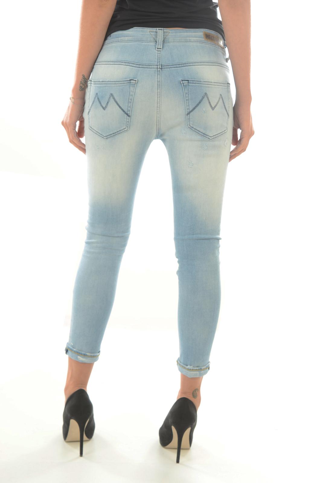 Jeans   Meltin'pot LEIA D1669 UP570 BLEU BS16