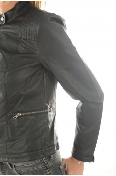 MARQUES ONLY: WILMA FAUX LEATHER JACKET CC OTW