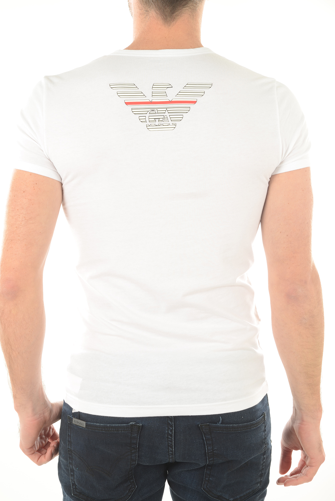 T-S manches courtes  Emporio armani 111035 6P725 10 blanc