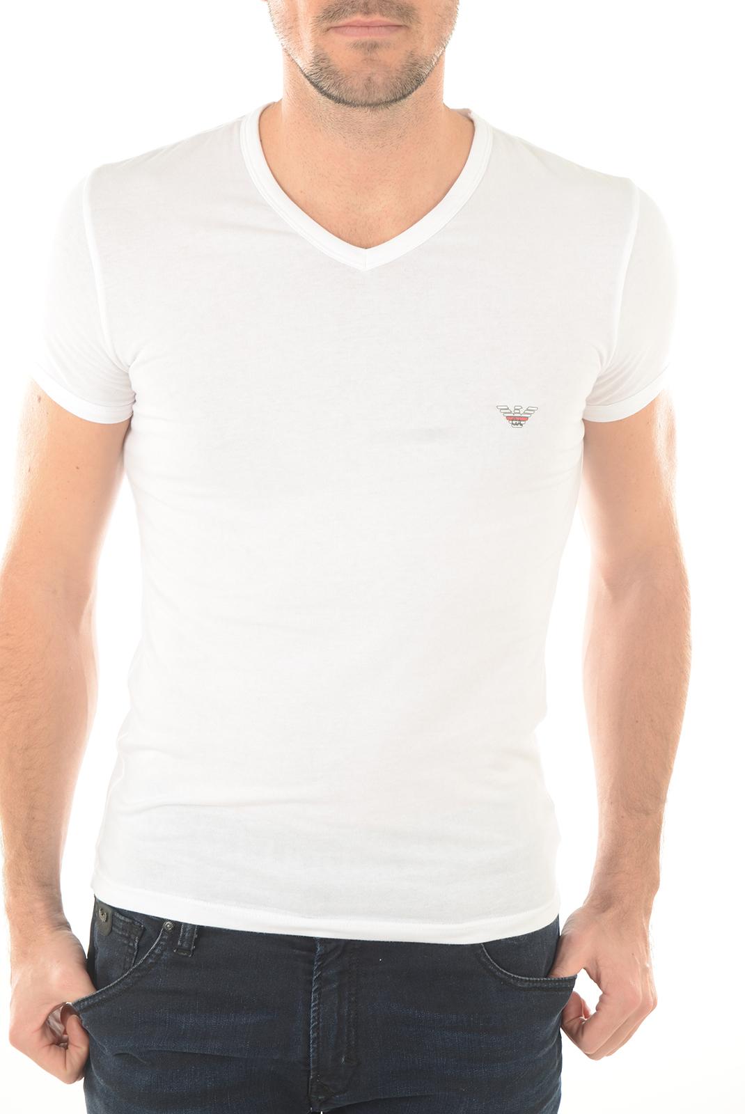 T-S manches courtes  Emporio armani 110810 6P725 10 blanc
