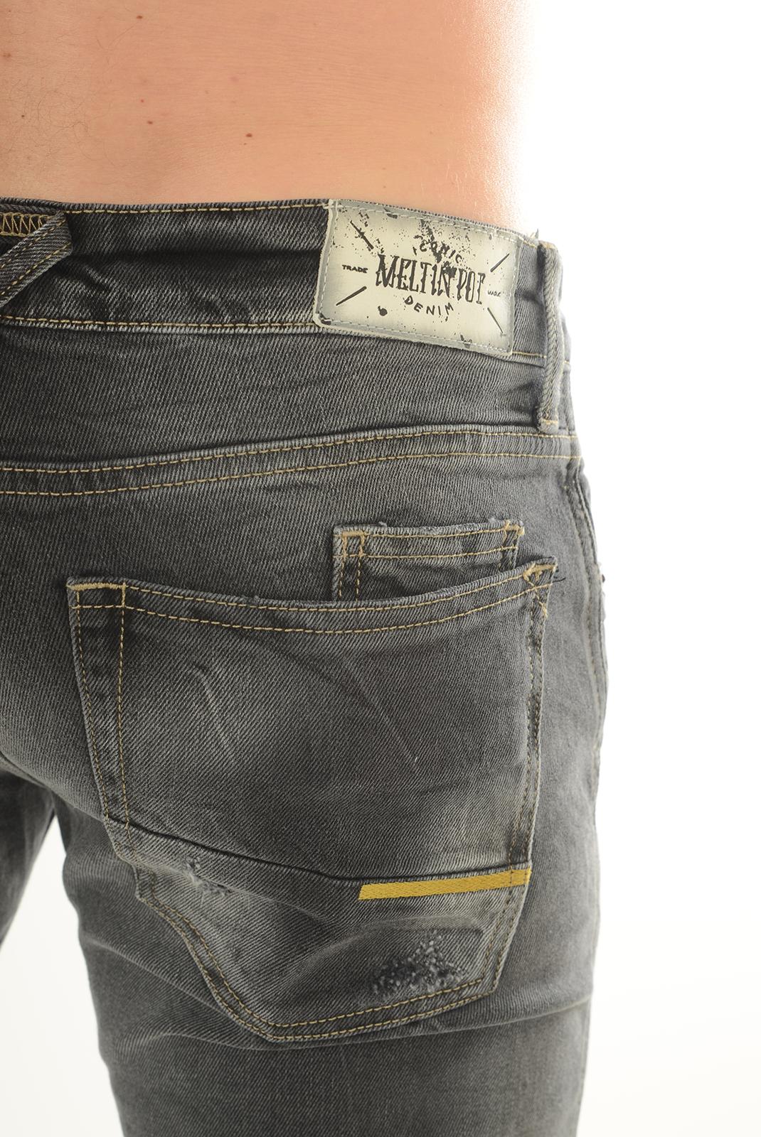 Jeans  Meltin'pot MONTREAU D1691 UP105 GRIS NF15