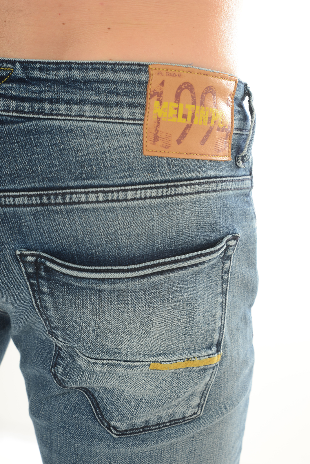 Jeans  Meltin'pot MARTIN D1705 UK399 BLEU BF15