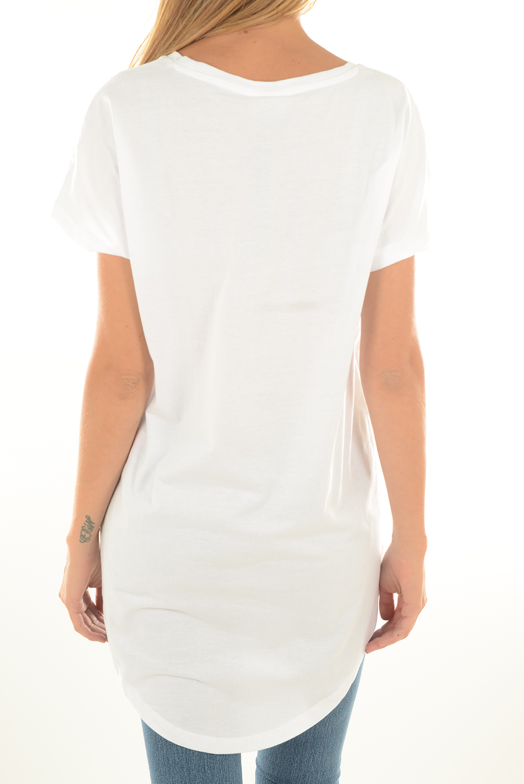 Tops & Tee shirts  Noisy May FLASH S/S HIGH LOW BRIGHT WHITE