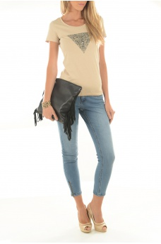 NOISY MAY: EVE LW SS ANKLE ZIP JEANS LT BL NOOS