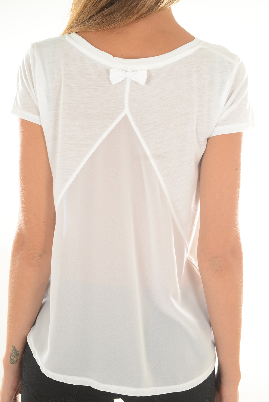 Tee shirt  Kaporal ANOYE WHITE