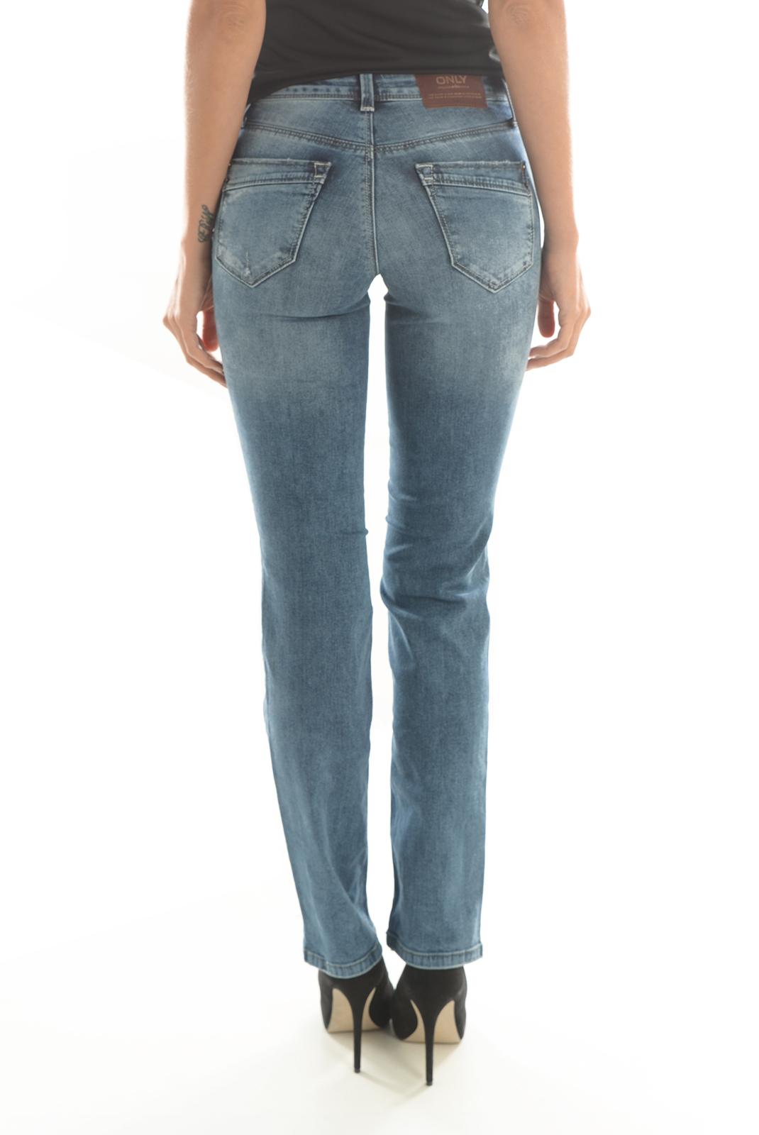Jeans droit  Only ELLA REG ST DNM JEANS REA3577A NOOS MEDIUM BLUE DENIM