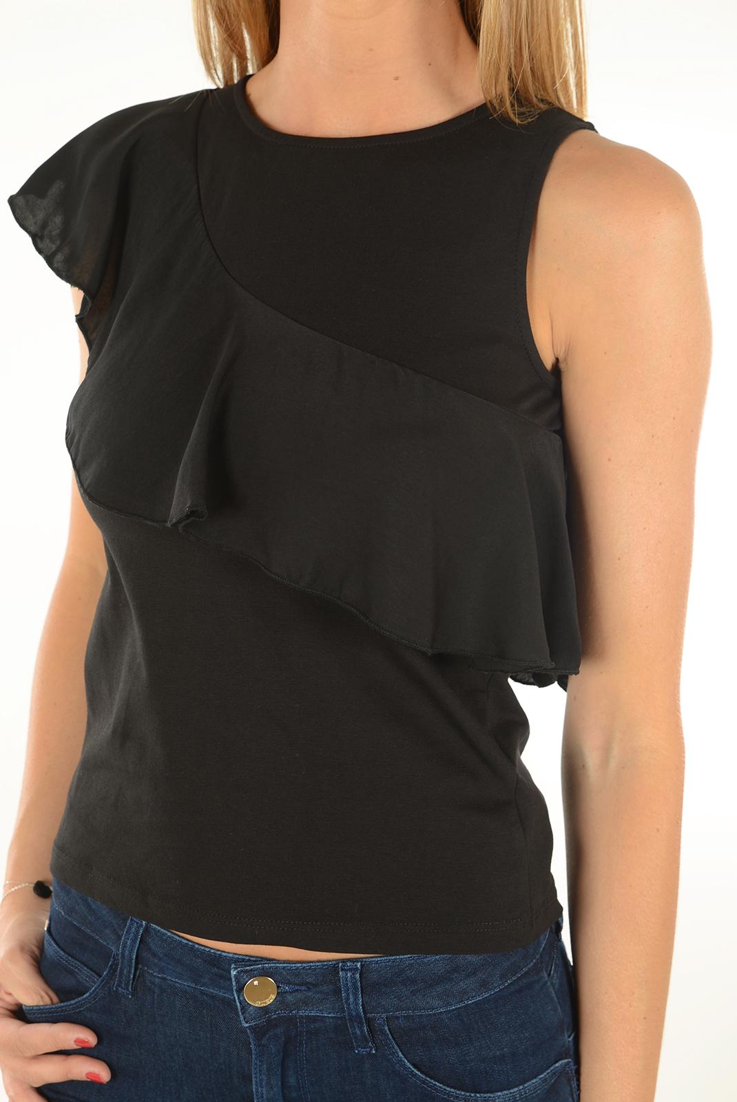 Tops & Tee shirts  Only BINA S/L FRILL TOP BLACK