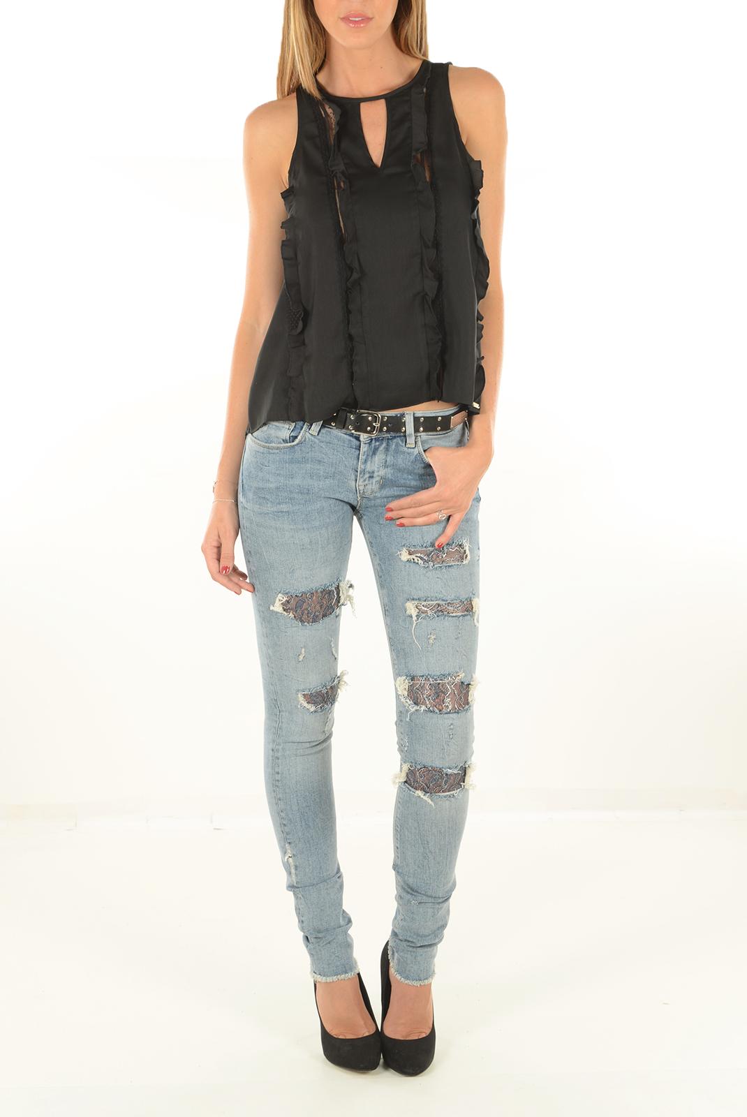 Tops & Tee shirts  Guess jeans W64H44W7VP0 A996 NOIR