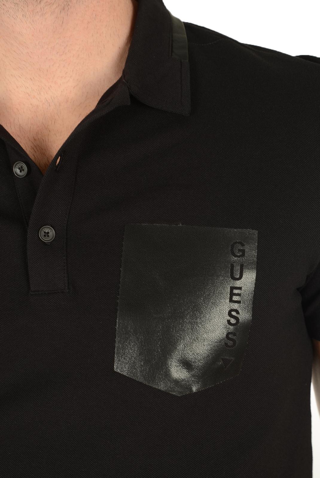 Polos manches courtes  Guess jeans M64P09 K4Y60 A996 NOIR