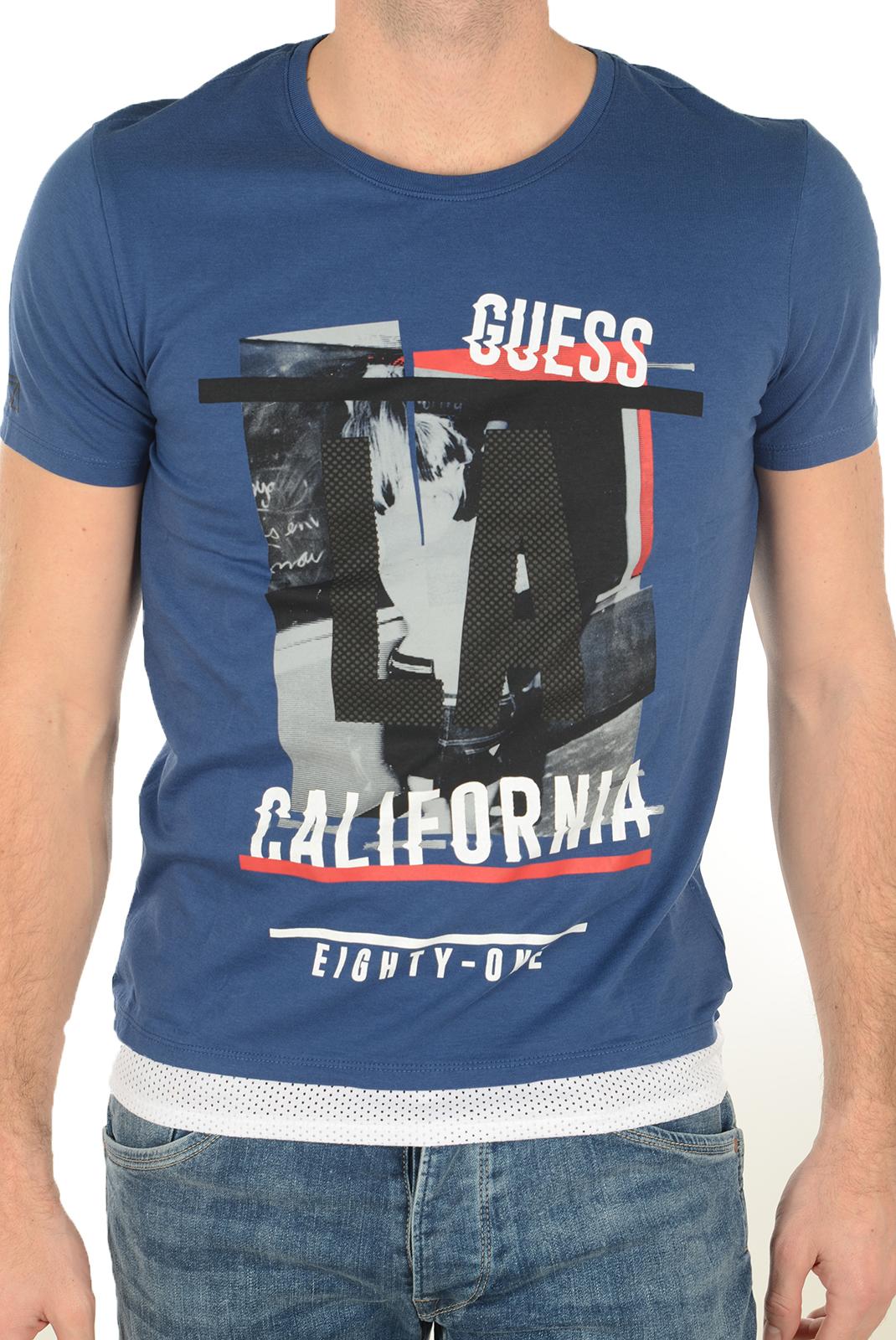 Tee-shirts  Guess jeans M72I32 I3Z00 B715 BLEU