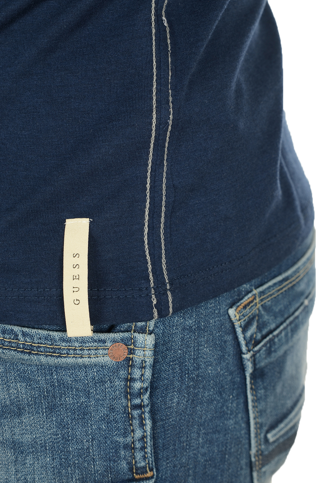 Tee-shirts  Guess jeans M72I53K5J70 A716 BLEU
