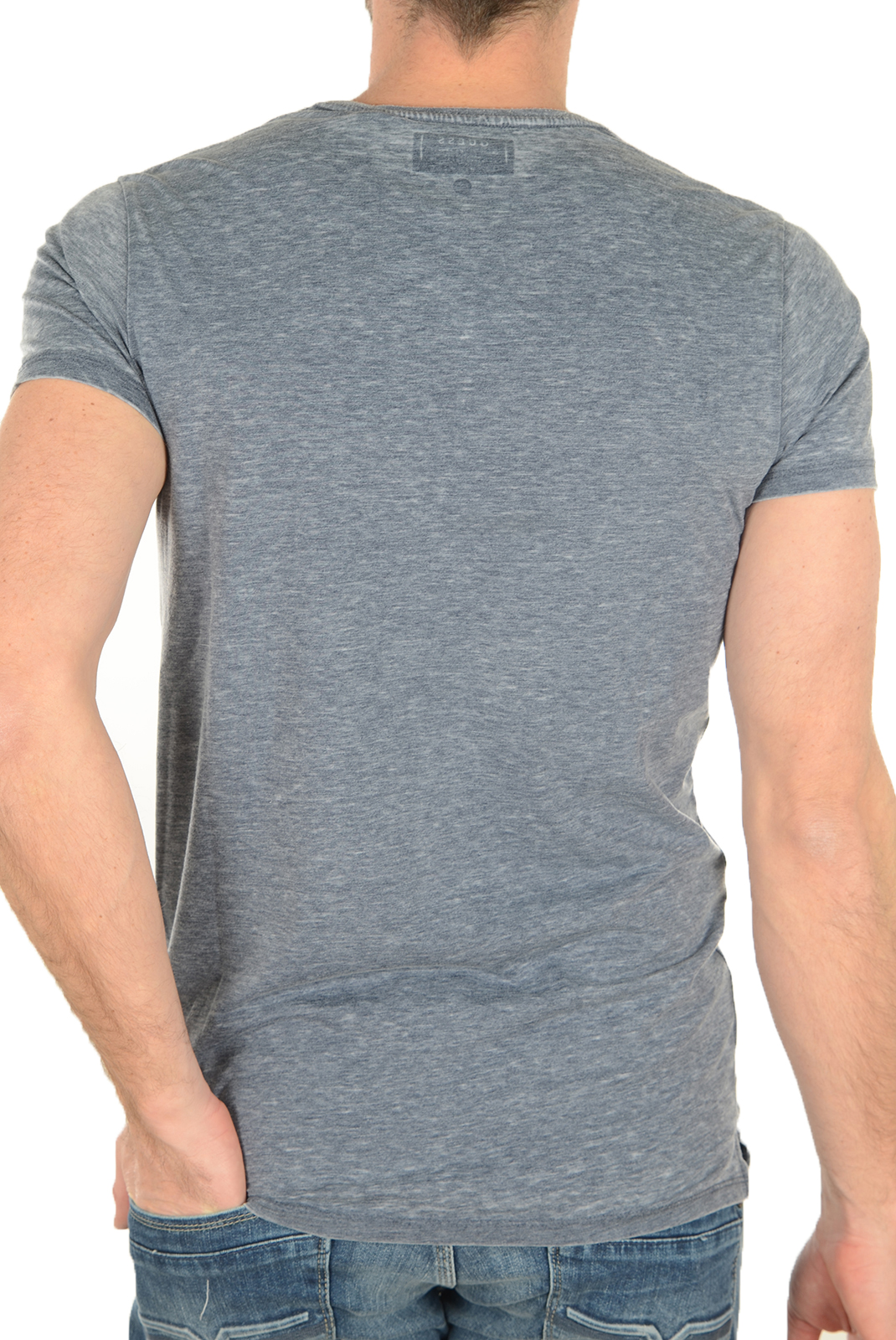 Tee-shirts  Guess jeans M72I65 K4JU0 H769 GRIS BLEU