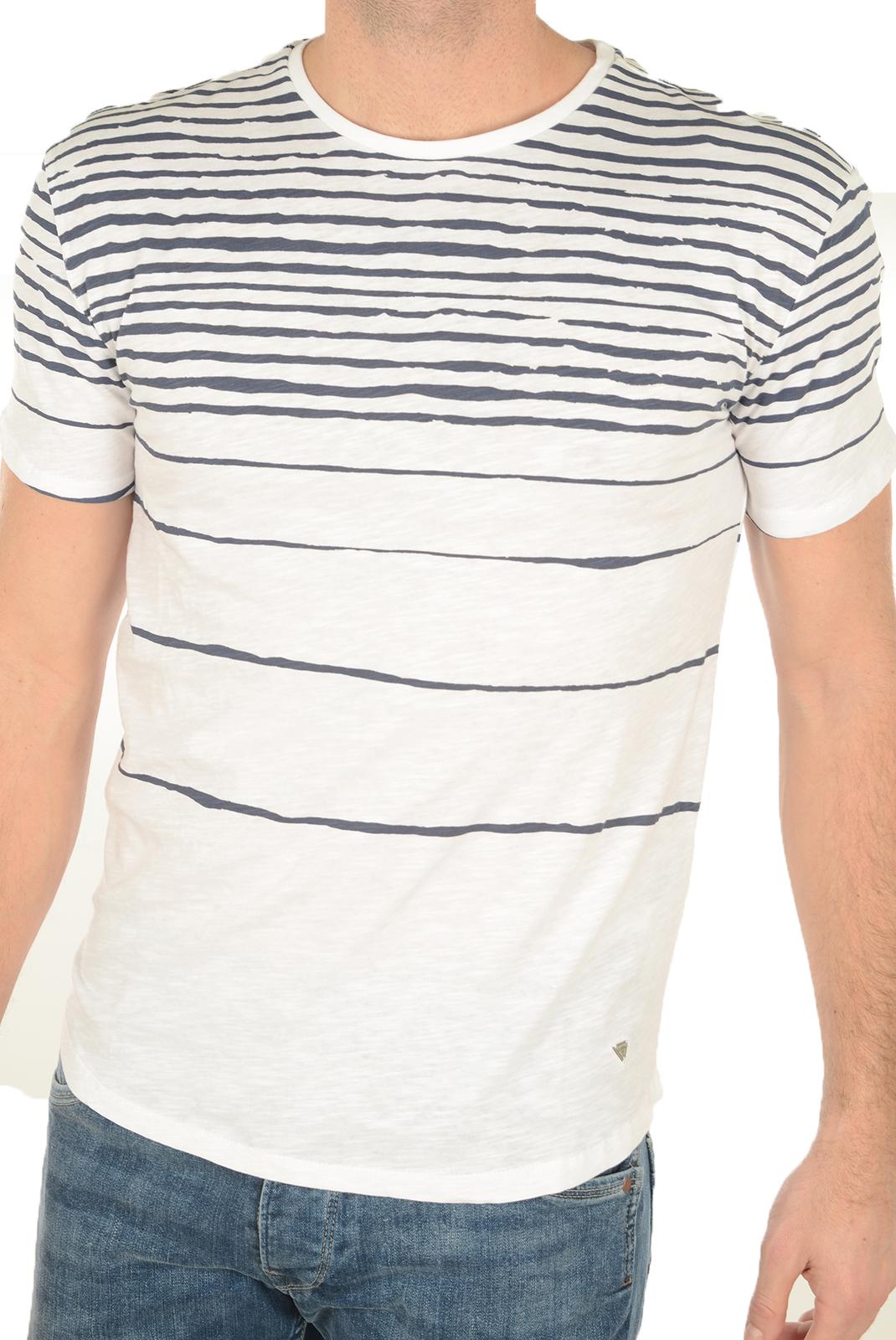 Tee-shirts manches courtes  Guess jeans M72P27 K4YI0 A716 BLANC BLEU