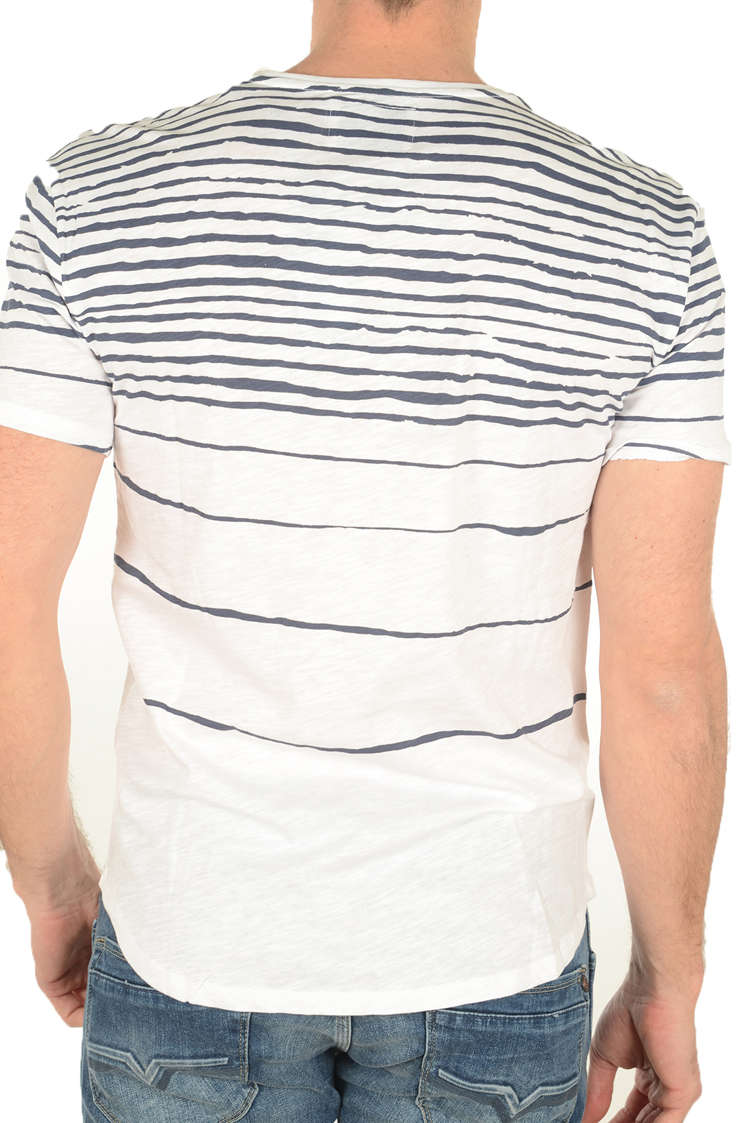 T-S manches courtes  Guess jeans M72P27 K4YI0 A716 BLANC BLEU