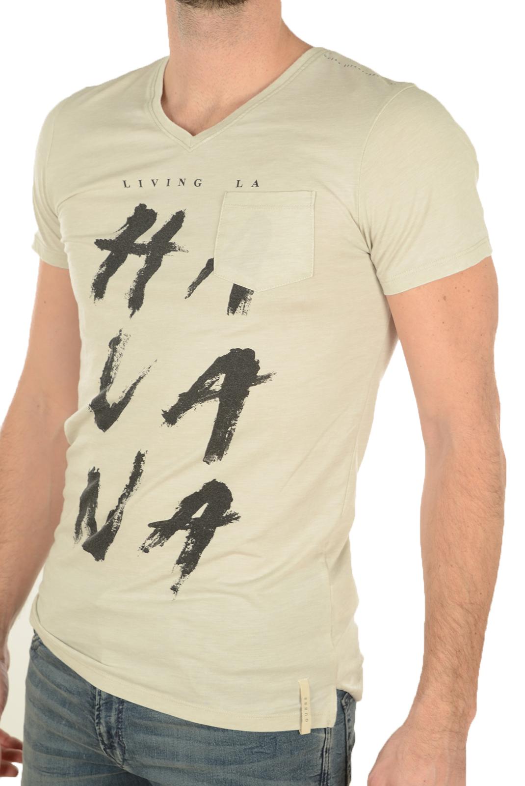 Tee-shirts  Guess jeans M72I65 K4JU0 HC98 BEIGE