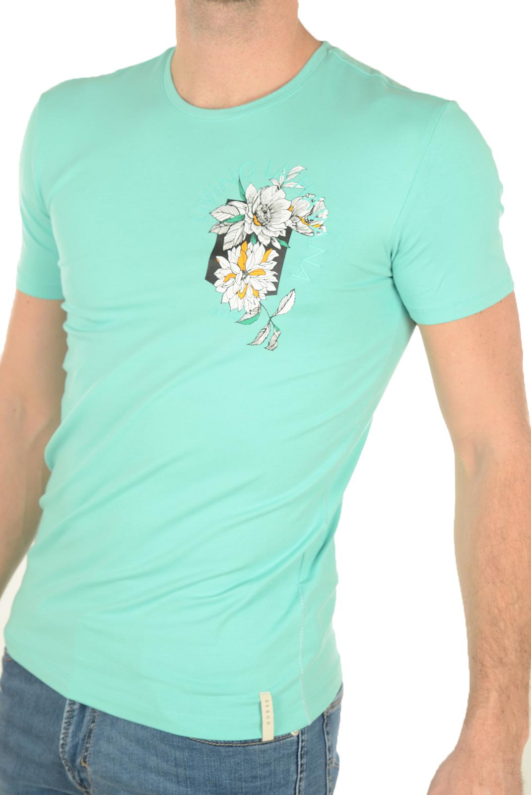 Tee-shirts  Guess jeans M72I54J1300 B853 VERT