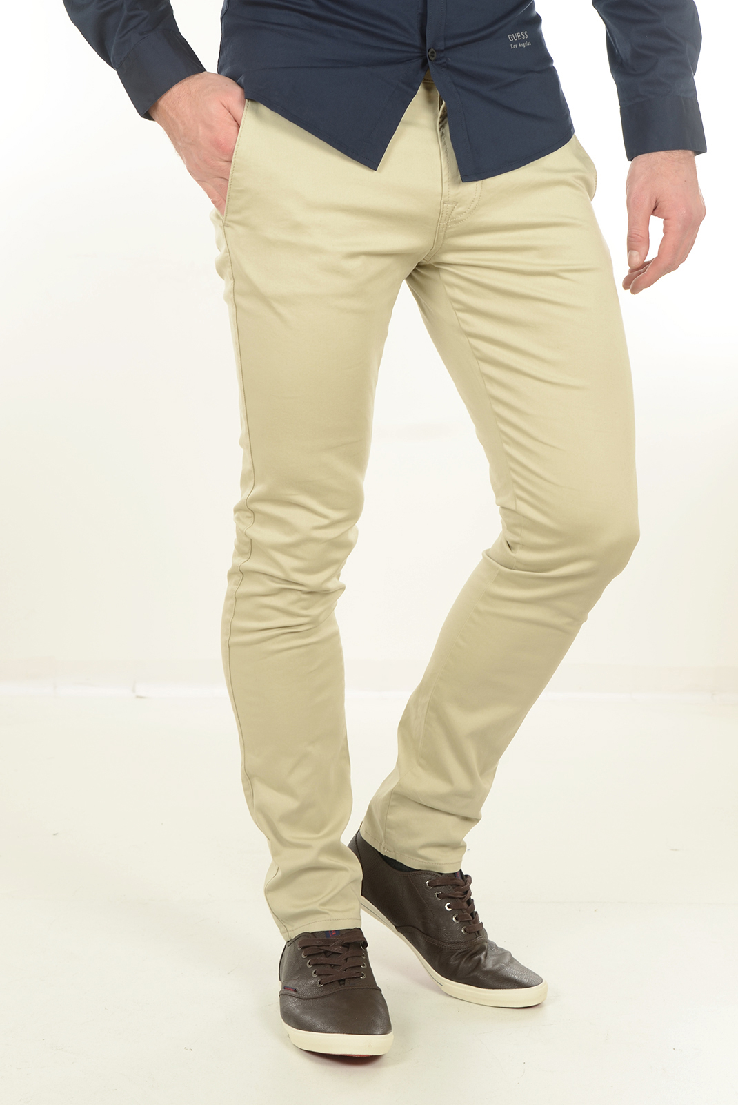 Pantalons  Guess jeans M54B29W71Z0 DANIEL C122 BEIGE